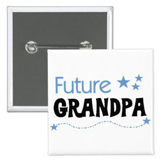 Future Grandpa Tshirts and Gifts 15 Cm Square Badge