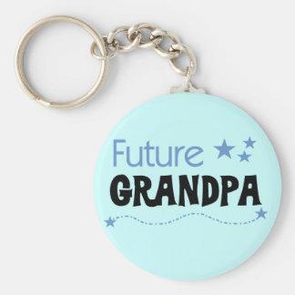Future Grandpa Tshirts and Gifts Basic Round Button Key Ring