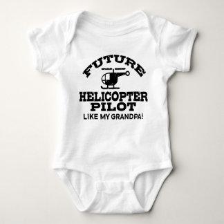 Future Helicopter Pilot Like My Grandpa Baby Bodysuit