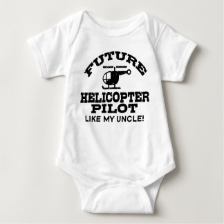 Future Helicopter Pilot Like My Uncle Baby Bodysuit