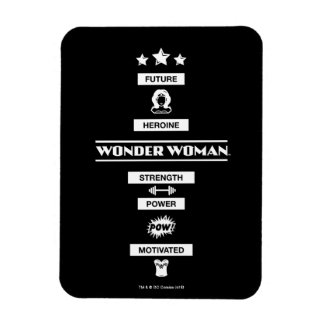 Future Heroine Wonder Woman Rectangular Photo Magnet