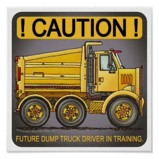 Future Highway Dump Truck Driver Poster Print