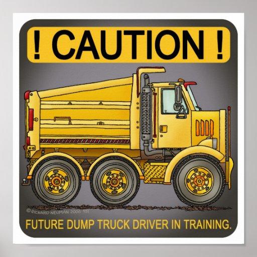 Future Highway Dump Truck Driver Poster Print