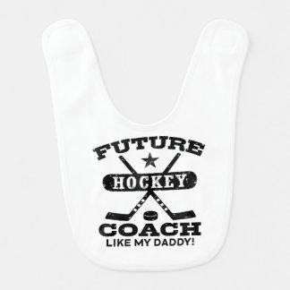 Future Hockey Coach Like My Daddy Bib