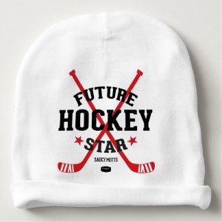 Future Hockey Star Red Hockey Sticks Infant Baby Beanie