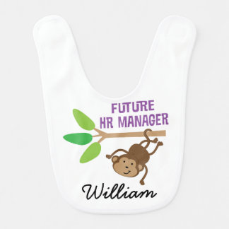 Future HR Manager Personalised Baby Bib