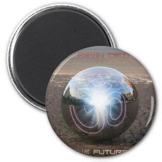 future Hűtőmágnes 6 Cm Round Magnet