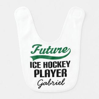 Future Ice Hockey Player Personalized Baby Bib