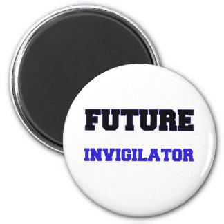 Future Invigilator 6 Cm Round Magnet