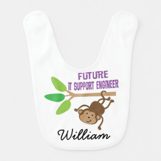 Future IT Support Engineer Personalized Baby Bib