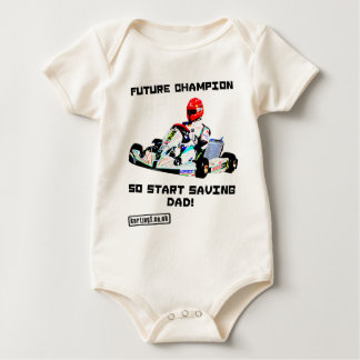 Future Karting Champion Start Saving Baby Bodysuit