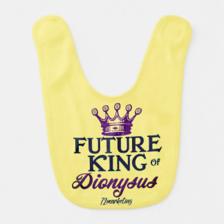 Future King of Dionysus Baby Infant Bib Mardi Gras