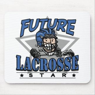 Future Lacrosse Star Blue Helmet Mouse Pad