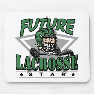 Future Lacrosse Star Green Helmet Mouse Pad