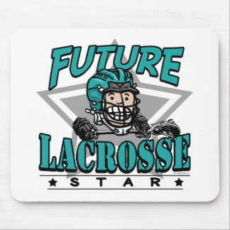 Future Lacrosse Star Teal Helmet Mousepads