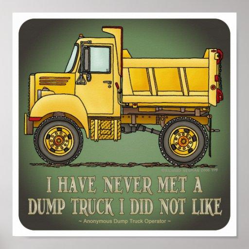 Future Little Dump Truck Driver Poster Print