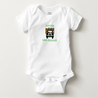 Future Log Haulier Baby Driving Log Truck Baby Onesie