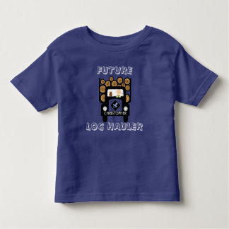 Future Log Haulier Baby Driving Log Truck Toddler T-Shirt