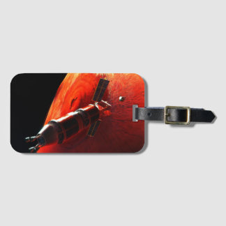 Future Manned Mars Mission Olympus Mons Luggage Tag