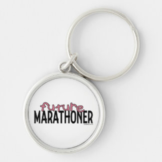 Future Marathoner - Pink Silver-Colored Round Key Ring