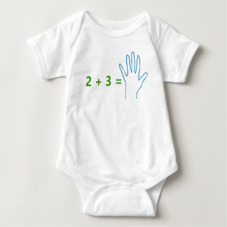 """Future Mathematician"" Humorous, basic math Baby Bodysuit"