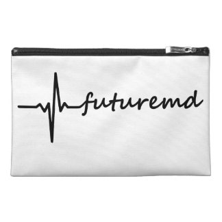 Future MD EKG Line & Personalized Color Background Travel Accessory Bag