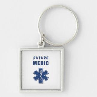 Future Medic Silver-Colored Square Key Ring