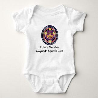 Future member Gwynedd Squash Club baby overall Baby Bodysuit