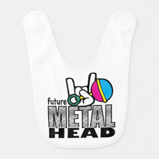Future Metal Head Baby Bibs