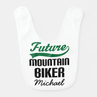 Future Mountain Biker Personalized Baby Bib