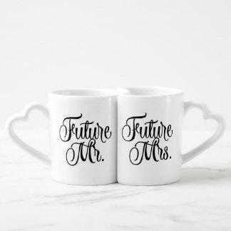 Future Mr and Mrs Fancy Script Coffee Mugs Lovers Mug Set