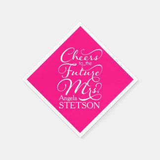 Future Mrs Bridal Shower | Hot Pink Paper Serviettes