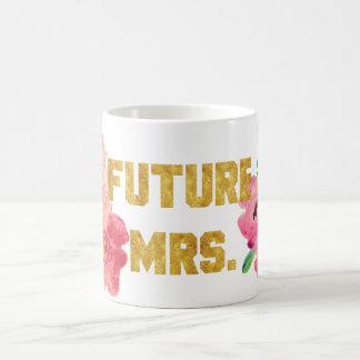Future Mrs Floral Gold Mug