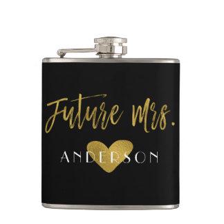 Future Mrs. Gold Foil Bride Flask