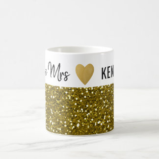 Future Mrs Gold Glitter Coffee Mug