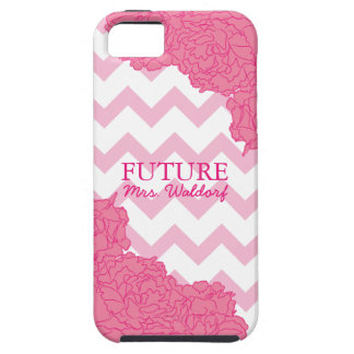 Future Mrs. Peonies and Chevron Case For The iPhone 5
