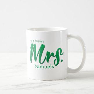 """Future Mrs."" Photorealistic Mint Green Foil Coffee Mug"
