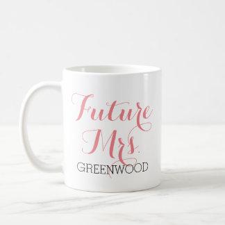 Future Mrs. Pink Script Basic White Mug