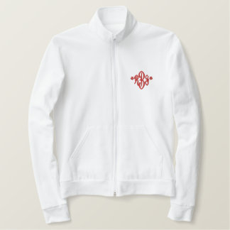 Future Mrs. Zip Up Embroidered Jacket