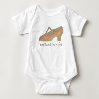 Future Musical Theatre Star Character Shoe Baby Baby Bodysuit
