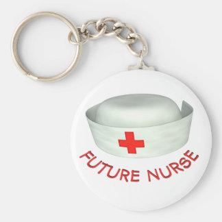Future Nurse Basic Round Button Key Ring