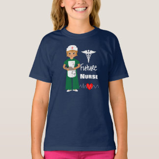 Future Nurse Little Girls Cute Graphic T-Shirt