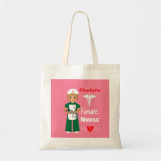 Future Nurse Little Girls Cute Personalized Tote Bag