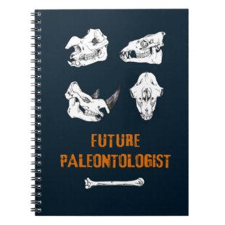 Future Paleontologist, Dinosaurus Skulls Skeletons Notebook