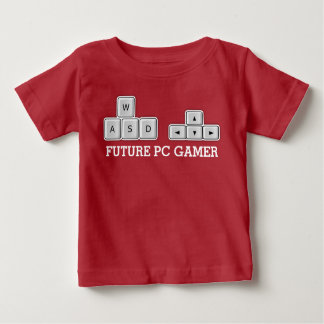 Future PC Gamer Baby WASD Keyboard Baby T-Shirt