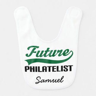Future Philatelist Personalized Baby Bib