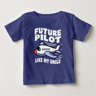 Future Pilot Like My Uncle Baby T-Shirt