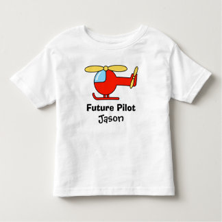 Future pilot t shirt for kids with toy helicopter