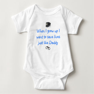 Future Police Officer Baby Bodysuit