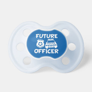Future police officer baby boy pacifier